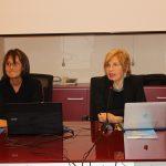 Da sinistra Maria Carmen Russo e l'Assessore Maura Ruggeri